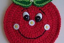 Erdbeere Topflappen