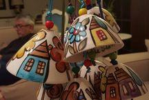 colgantes de ceramica