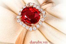 nhẫn nữ đá ruby