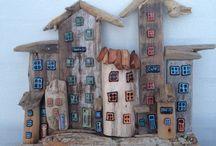 case mici lemn