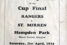 St. Mirren Programmes / A selection of rare and unusual football programmes involving St. Mirren