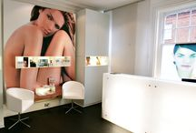 C2 Clinic by Zynk Design / Client: CACI International  CACI, the manufacture of high end cosmetology equipment, commissioned Zynk to design its flagship clinic in Hampstead.