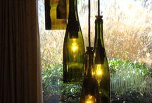 wine bottle.  / Crafts with bottles