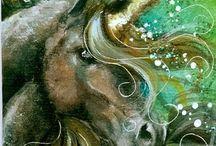 unicornios e fantasia