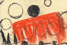 Zeitgenössische Zeichnungen / Ungegenständliche, minimalistische Zeichnungen