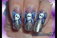 Skulls & Flames Nail Art / by Rose Stumbaugh