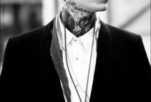 boys with tattoos and style