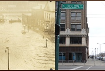 1913 Great Flood of Dayton: 100 Years After the Flood / Composite photographic stills depict neighborhood scenes from the Great Dayton Flood of 1913 and what these areas look like 100 years after the disaster. Color photographs taken and composites edited by Angela Thornhill (The Merry Dressmaker), March 18, 2013.