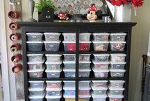 Home office/craft room organization