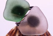 Anells / Anillos / Rings / Handmade jewlery with sea glass.