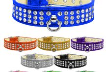 Jeweled Dog Collars / Unlike lesser quality rhinestone dog collars our crystal collars are bejeweled with quality Austrian Crystals that are riveted into the dog collar so they stay securely attached for your dogs safety and long lasting beauty. You can find the perfect luxury dog collars for everyday wear or that extra bling for a night out!