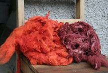 My Own Natural Plant/Vegetable Dyeing / Locally grown wool, dyed with locally grown plants. Also commercially spun wool with natural dyes. http://coloursofnorthernireland.blogspot.co.uk/