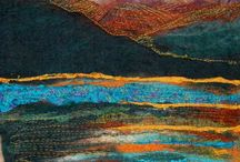 Felted paintings and inspirations / Love to paint with wool / by Jeany in a Bottle