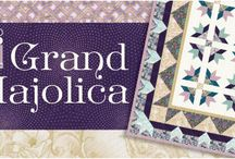 "Grand Majolica by Robert Kaufman / ""Grand Majolica"" by Studio RK, Vintage colorstory for Robert Kaufman Fabrics"