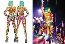 KATY PERRY BIRTHDAY SUIT / We were commissioned by Katy Perry to create a custom outfit for her Prismatic World Tour (2014) to perform during her song 'Birthday'. It was an epic process that included fitting Katy herself (the idea was that it was a 'skin birthday suit' so it had to fit like a GLOVE) discussing the design with her, a few stages of drawing and sketching, making the initial suit to her exact measurements, hand drawing every element on, and then finally each detail had to be hand-sequinned on to the suit!
