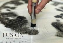 fabric stencilling