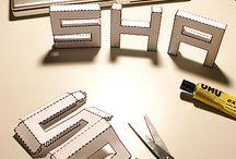 Letras 3D e fontes