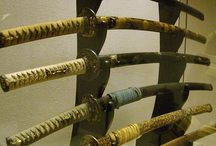 wooden sword rack