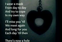 with you went so much of me / the day my best friend left was the day I truely felt a piece of my soul ripped away. He was my everything. and now...all I have is memories