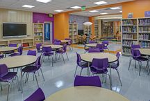Weinberg Libraries / Baltimore, Maryland. PRODUCTS: Allsteel, JSI, Smith Systems, Virco.