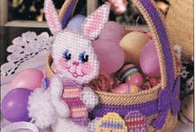 purple bunny basket