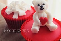 Valentine cup cakes ideas