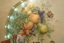 фрески кухня