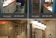 Before & After Home Remodels / Take a look at the collection of Before & After home remodels designed and built by Holmes by Designs.
