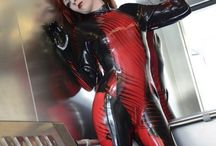 PVC latex catsuits