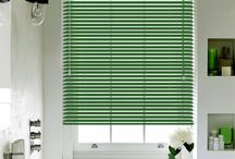 Blinds: Venetian Blinds / Venetian blinds providing an impressive light controlling action due to its design.