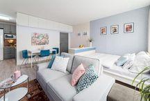 Malé prostory / Small spaces / Řešení malých prostor a víceúčelových pokojů  Home decor, design and interiors Small spaces and multi rooms