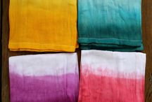 "Dye et shibori / Dye & shibori / Toutes nos inspirations de tissus teints suivant les techniques du ""tie and dye"" ou du shibori."
