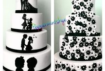 silhouette cakes / My hand painted silhouette cake's