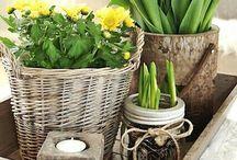 Tischdeko Frühling