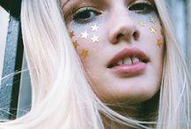 Glitter makeup / glitter + inspiration