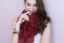 Scarf - Moroccan Garnet - Gorgeous Deep Red - perfect for holiday