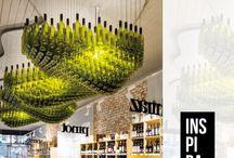 Wine art installation