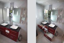 Salle de bain contemporaine,meuble fonctionnel.