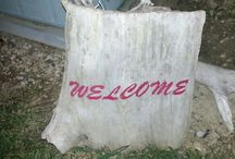 Driftwood Signs by Me / by Pam Clay