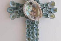 Crosses sea shell DIY