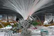décoration tables de fêtes / décoration de table de Noël, sapin de Noël, décoration table mariage, décoration table nouvel an