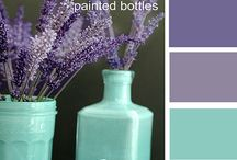 colours - purple & mint