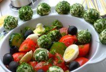 Рецепты салатов / Большие инфографичные рецепты салатов на http://dinne.ru/cat/salaty/