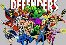 """The Defenders / The Defenders is the name of a number of Marvel Comics superhero groups which are usually presented as a """"non-team"""" of individualistic """"outsiders,"""" each known for following their own agendas.  The Hulk. Dr.Strange. Sub Mariner.  1972-1983"""