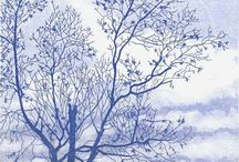 Printmaker | Helen Hanson / Artist Helen Hanson is a professional printmaker, specialising in lanscape etchings. Her work reflects her enduring fascination with the detail and pattern of plants which she sets against the changing aspects of the landscape. Helen's etchings are on copper and make use of a wide range of traditional and innovative printing methods.  See more www.forartssake.com