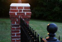 iron concrete fence
