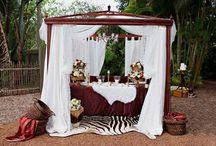 Jungle theme wedding
