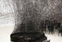Chiharu Shiota / Paint construction