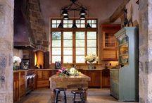 Stone farm house  / Interiors, open joists, etc...