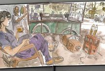 India Sketchbooks / Travel sketchbook of India during the world sketching tour. Mostly sketches done with watercolor on location. Author: Luis Simoes